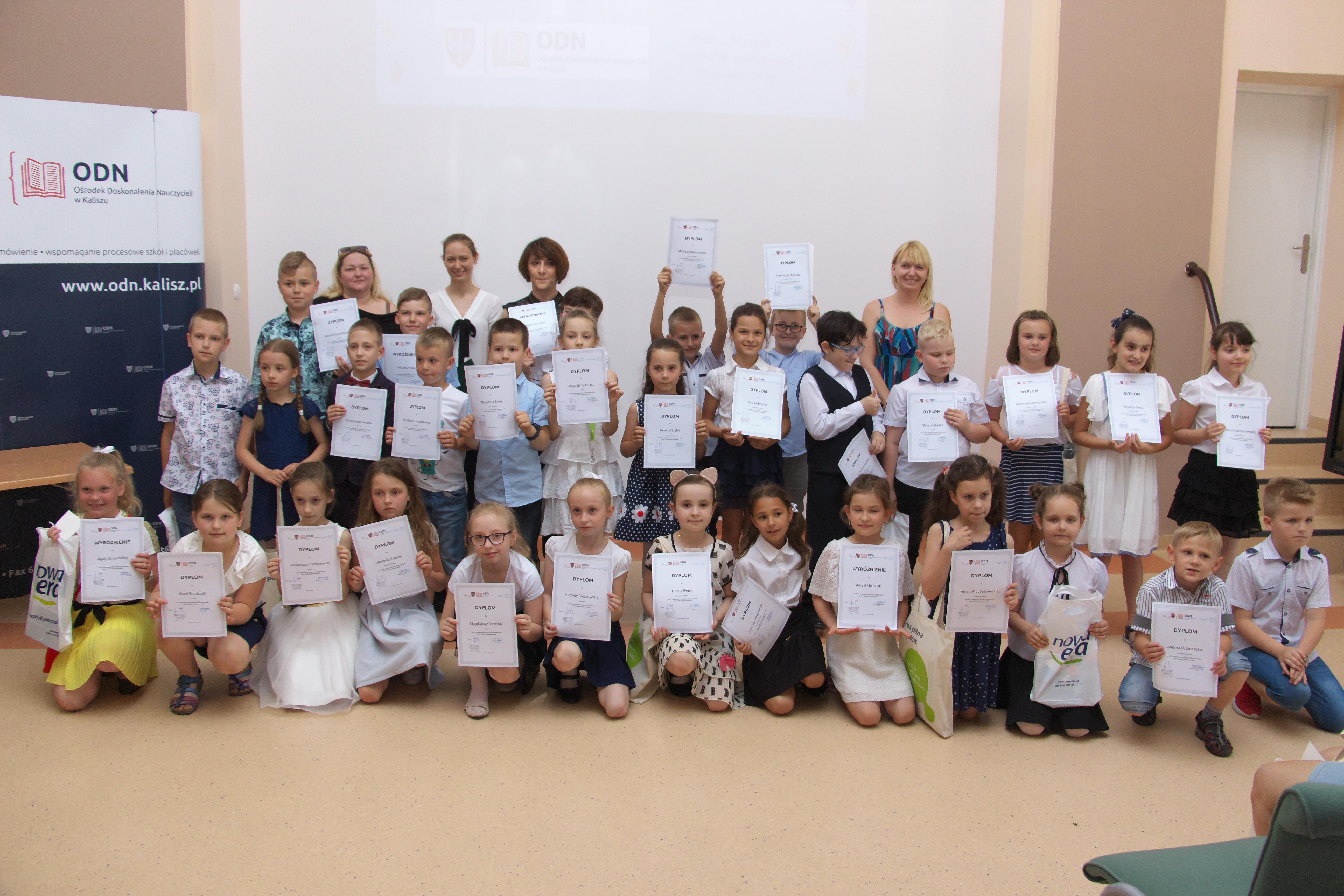 XIV Powiatowy Konkurs Recytatorski dla uczniów klas I-III szkół podstawowych z terenu powiatu kalskiego.